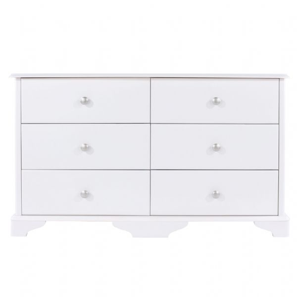 Caithness 3+3  Wide Chest | Wide Six Drawer Chest With Bracket Feet.